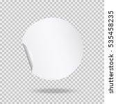 round peel off paper sticker... | Shutterstock .eps vector #535458235