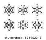 vector snowflakes set | Shutterstock .eps vector #535462348