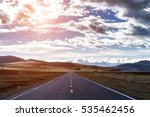 highland road to daocheng  china | Shutterstock . vector #535462456