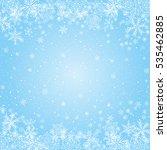 snowflakes blue radial... | Shutterstock .eps vector #535462885