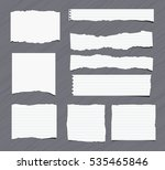 pieces of white torn note ... | Shutterstock .eps vector #535465846