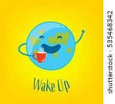 good morning card with funny... | Shutterstock .eps vector #535468342