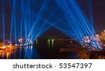 light beam show in vancouver ... | Shutterstock . vector #53547397