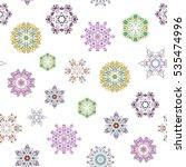 vector seamless pattern in... | Shutterstock .eps vector #535474996