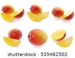 3d rendering mango set. mango... | Shutterstock . vector #535482502