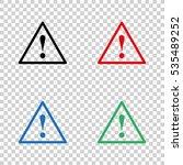 dangerous    vector icon | Shutterstock .eps vector #535489252