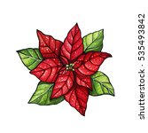 hand drawn christmas and new... | Shutterstock . vector #535493842