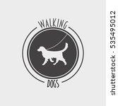 walking dog badge  label  logo...   Shutterstock . vector #535495012