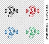 ear    vector icon | Shutterstock .eps vector #535495456