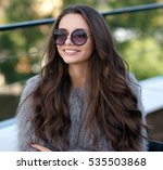 trendy dressed fashionable girl ... | Shutterstock . vector #535503868