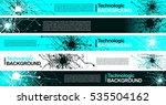 hi tech futuristic circuits... | Shutterstock .eps vector #535504162