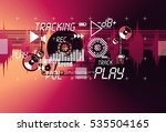 music vintage grange template... | Shutterstock . vector #535504165