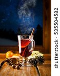 mulled wine with citrus fruits... | Shutterstock . vector #535504582