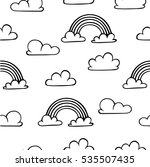 seamless pattern with clouds... | Shutterstock .eps vector #535507435