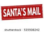 santa's mail grunge rubber...   Shutterstock .eps vector #535508242
