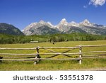 A Pastoral Scene On A Ranch At...