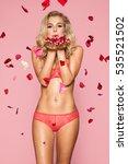 beautiful blond woman in...   Shutterstock . vector #535521502