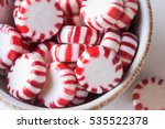 hard peppermint candies in a... | Shutterstock . vector #535522378