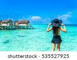 portrait of happy young woman... | Shutterstock . vector #535527925