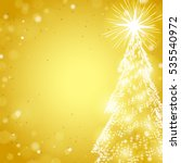 shine christmas tree on the... | Shutterstock .eps vector #535540972