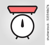 kitchen scale icon in trendy...