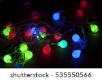 colorful party lights on the... | Shutterstock . vector #535550566