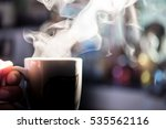 welcome the morning with a cup...   Shutterstock . vector #535562116