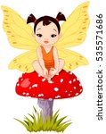illustration of cute little... | Shutterstock .eps vector #535571686