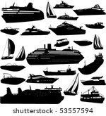 collection of sea tranportation ... | Shutterstock .eps vector #53557594