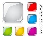 vector glossy buttons   Shutterstock .eps vector #53557651