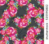 seamless floral pattern with... | Shutterstock .eps vector #535590802