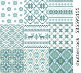 set of traditional christmas... | Shutterstock .eps vector #535595155