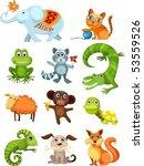 animal set | Shutterstock .eps vector #53559526