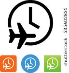 flying time icon | Shutterstock .eps vector #535602835