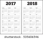 simple calendar template for... | Shutterstock .eps vector #535606546