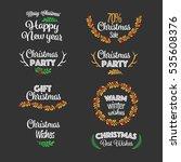 typographic  merry christmas... | Shutterstock .eps vector #535608376