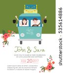 wedding invitation cards with... | Shutterstock .eps vector #535614886