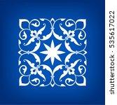 circular abstract floral... | Shutterstock .eps vector #535617022