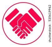 handshake stylized symbol | Shutterstock .eps vector #535619962