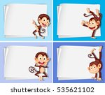 border template with cute... | Shutterstock .eps vector #535621102