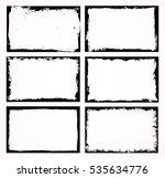 set of grunge frames.distress... | Shutterstock .eps vector #535634776