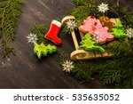 christmas concept with... | Shutterstock . vector #535635052