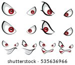 four expression for cartoon... | Shutterstock .eps vector #535636966