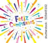 feliz cumpleanos   happy... | Shutterstock .eps vector #535645102