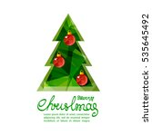 christmas tree isolated on... | Shutterstock .eps vector #535645492