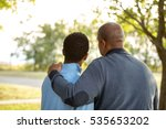 father parenting his son. | Shutterstock . vector #535653202