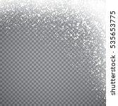 falling christmas snow....   Shutterstock .eps vector #535653775