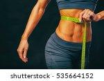 beautiful female body in... | Shutterstock . vector #535664152