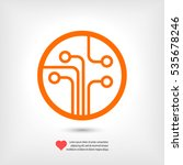 circuit board  technology icon  ... | Shutterstock .eps vector #535678246
