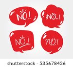 set of cute speech bubble with... | Shutterstock .eps vector #535678426